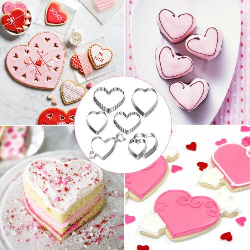Weihnachten /& Valentinstag Backen Keks Ausstecher Ausstechform Edelstahl 6er Set