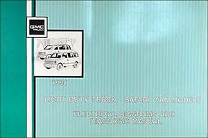 1993 GMC Safari Van Wiring Diagram Manual 93 Electrical Schematic Original OEM