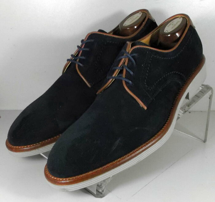 242027 MSi60 Men's Shoes Size 13 M Navy Suede Made in Italy Johnston Murphy