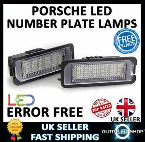2x Porsche Cayenne Bright Xenon White LED Number Plate Upgrade Light Bulbs
