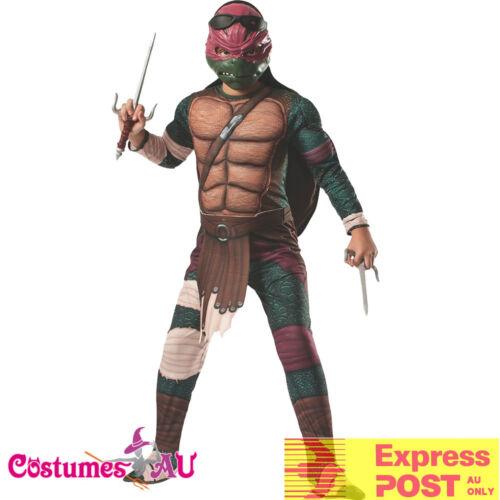 Mens Raphael TMNT Costume Teenage Mutant Ninja Turtles Movie Deluxe Fancy Dress