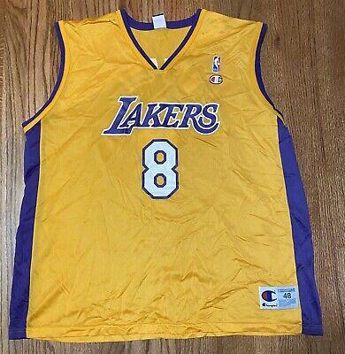 Vintage LA Los Angeles Lakers Kobe Bryant Champion Yellow #8 XL 48 Jersey | eBay