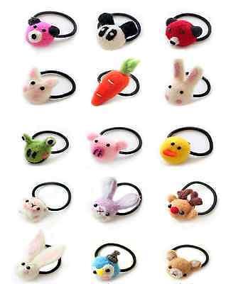 1pc New Korean hair accessories plush rabbit/panda/pig/bear/duck hair ties band