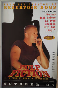 Cinema Poster Pulp Fiction 1994 Boxer Mini One Sheet Bruce Willis Ebay