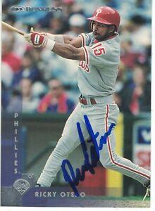 Ricky Otero Philadelphia Phillies 1997 Donruss Authentic Autograph COA
