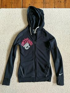 best service f86e5 162ad Details about Nike Dri Fit Full Zip Double Hoodie Xs