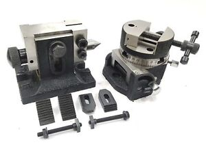 3-034-80MM-TILTING-ROTARY-TABLE-ROUND-VICE-SUITABLE-M6-ClAMP-KIT-TAILSTOCK