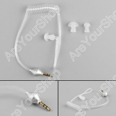 1Pcs 3.5mm Security Covert Acoustic Tube Headset Anti Radiation For MP3 Phone