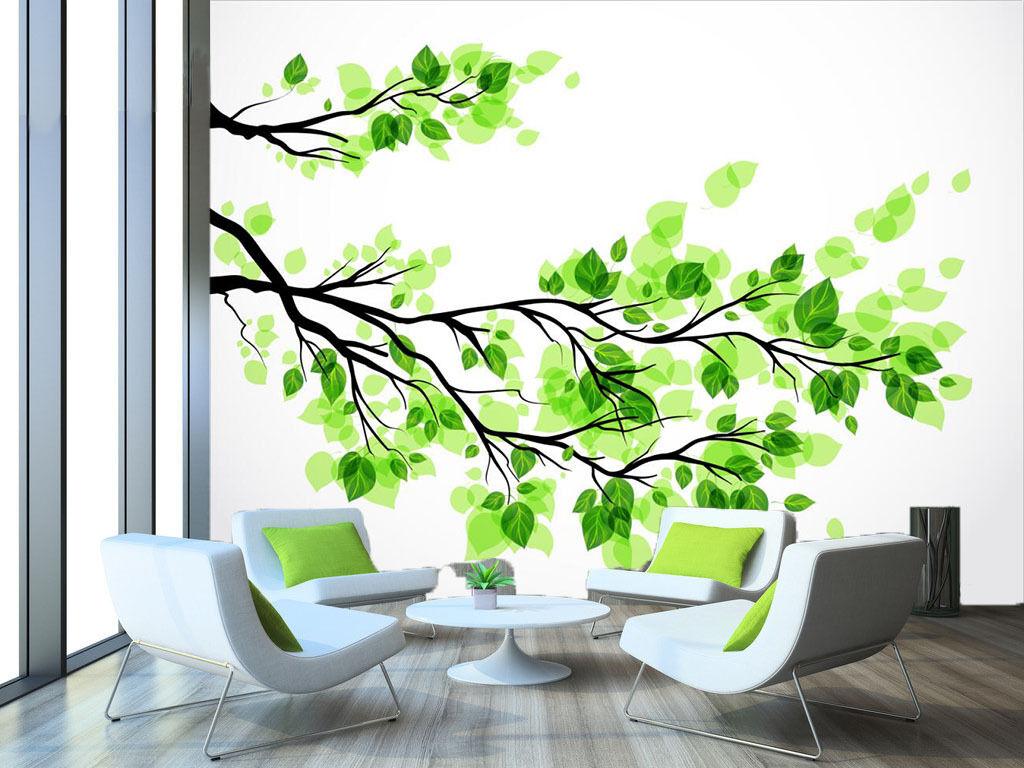 3D Grün leaves 23 Wall Paper Print Wall Decal Deco Indoor Wall Murals