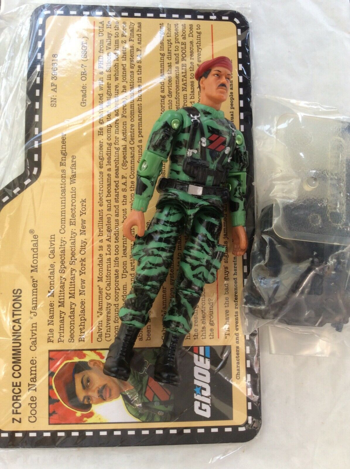 Gi joe 2010 joe con jammer complete with file card