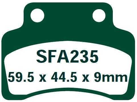 2T EBC Bremsbeläge SFA235 VORNE SACHS HERCULES SX-1 50 08-09