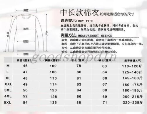 Winter Mens Military Trench Coat Hooded Parka Thick Cotton outwear Jackets M-5XL