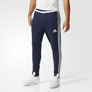 Evacuación globo lista  Adidas Tiro15 Mens Poly Football Training Trousers Sports Track Pants Black  Blue | eBay