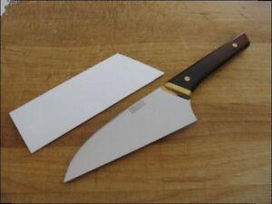 Unused Vintage Jos Digangi Designs Custom Oriental Chef Knife W