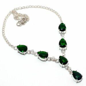 Elegant-Chrome-Diopside-Handmade-Ethnic-Style-Jewelry-Necklace-18-034