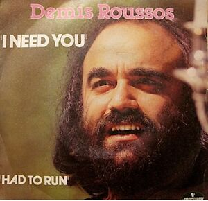 DEMIS-ROUSSOS-i-need-you-had-to-run-SP-1980-MERCURY-VG