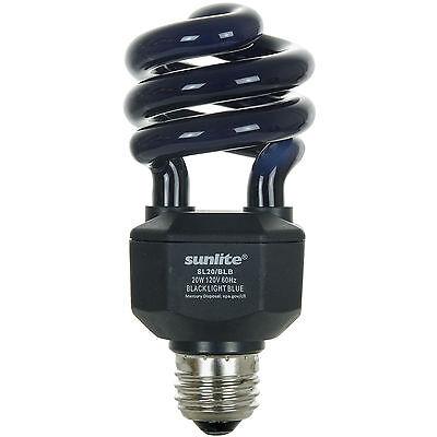 NEW 20W UV Black Spiral CFL Fluorescent Light Bulb - E26 FREE Shipping US !!!