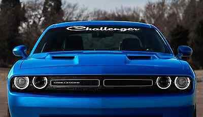 "Challenger 38"" Windshield Custom Decal Banner Sticker dodge srt rt"
