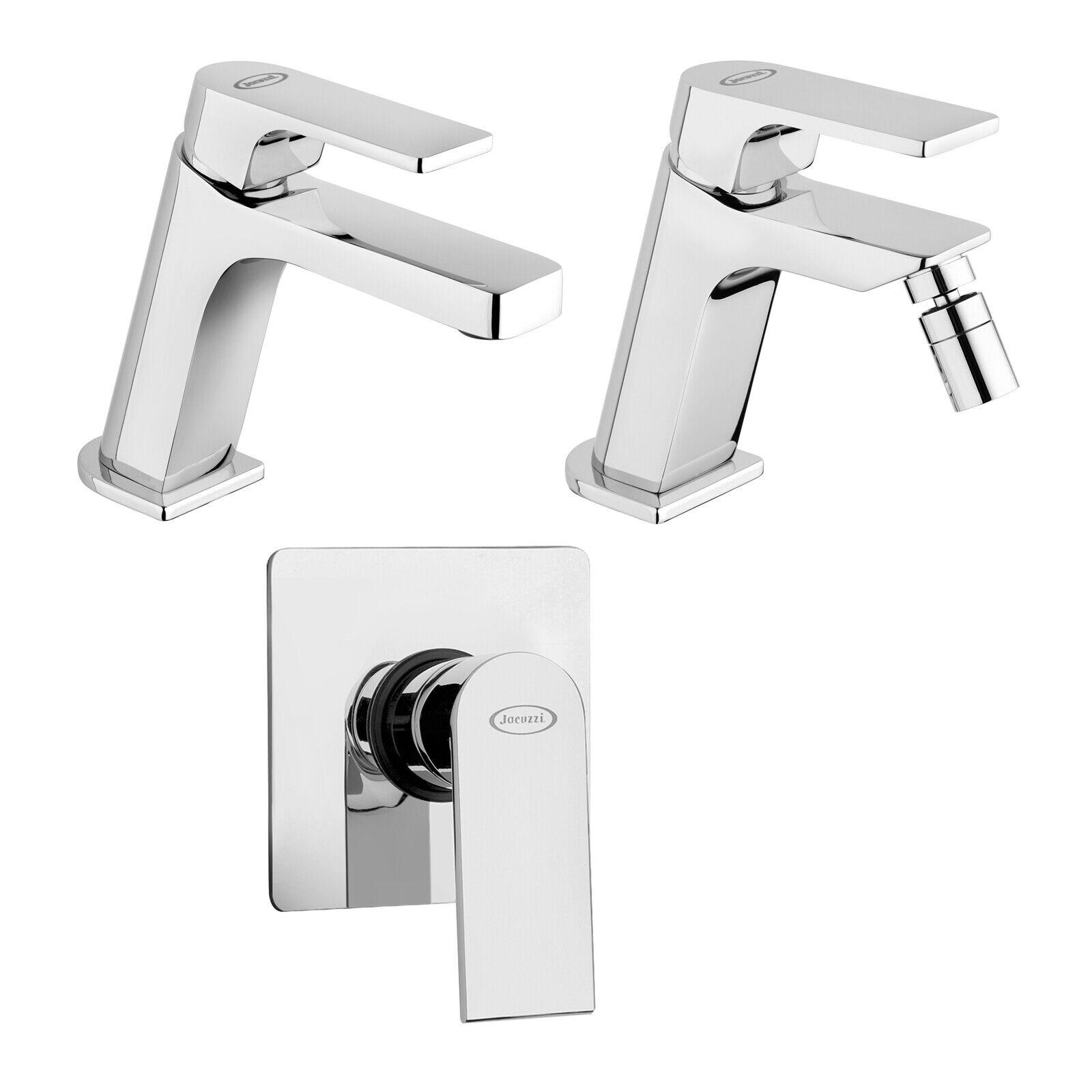 Set di miscelatori Jacuzzi - Rubinetteria Plaza bidet lavabo e incasso doccia