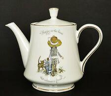 Vintage HOLLY HOBBIE Porcelain 2 Pint TEAPOT 1973 WORLD WIDE ARTS INC Made JAPAN