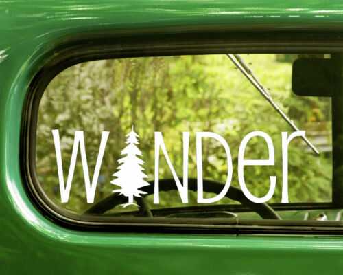 2 WANDER TREE DECALs Sticker Nature For Car Truck Window Bumper Laptop RV 4x4