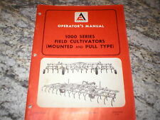 Allis Chalmers 1000 Field Cultivator Owners Operators Manual