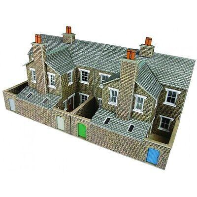 Fiducioso Low Relief Terraced House Backs Stone Oo/ho Card Kit Metcalfe Po277 - Free Post