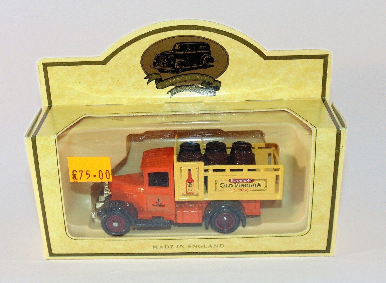 Lledo modelli promozionale RARO CAMION BOURBON Old Virginia Van 8
