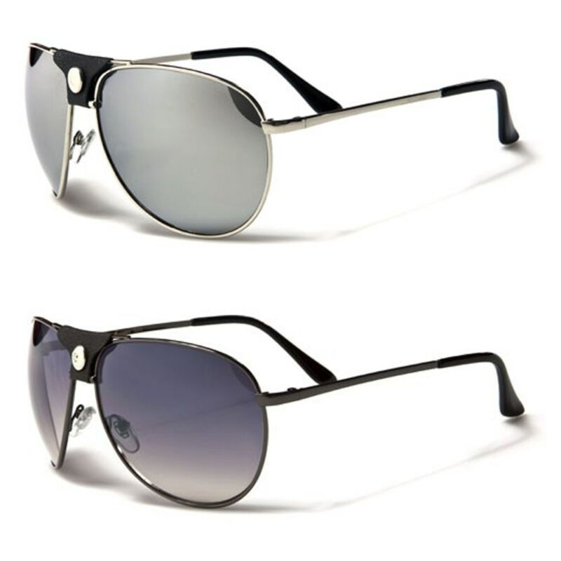 Air Force Classic Mens Aviator Sunglasses Leather Detail On Center