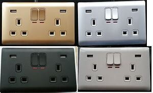 Double-Gang-Electrical-Plug-Socket-With-2-USB-Outlets-Electric-Wall-Faceplate