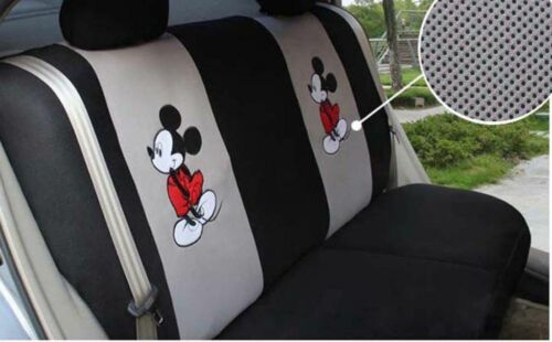 New 17 Pcs Mickey mouse Car Seat Cover Universal Cute Cartoon Accessory Interior