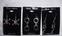 Real Metal Jewelry Halloween Gothic Necklace Earrings Vampire Spider Cross