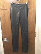 NWT Leather Black Leggings Pants Helmut Lang Size XS