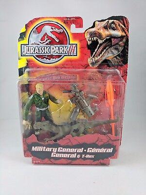 "NEW Jurassic Park III /""Military General /& T-Rex/"" By Hasbro 2000"