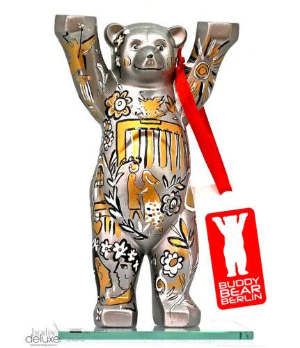 Buddy Bear in love in Berlin Neu 2 3//8in Silver Bear with Gift Box Souvenir