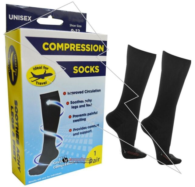 HJ Hall Flysafe Compression Flight Knee Length Socks