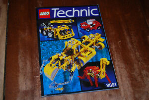 Authentic-Lego-Idea-Book-Technic-8891-Instruction-Manual-1991