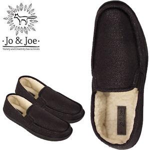 Nuevos-Zapatos-Para-Hombre-Slip-On-Piel-Forrada-de-Invierno-Calido-Imitacion-Cuero-Mocasin-Size-UK-7