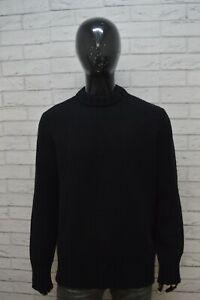 SISLEY-Maglione-Nero-Uomo-Pullover-Lana-Maglia-Taglia-2XL-Sweater-Man-Black