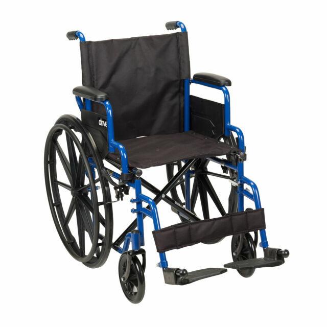 Drive Medical BLS20FBD-SF 20 inch Streak Wheelchair with Fli