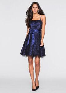 premium selection 4685b c9032 Dettagli su Elegante vestito abito corto blu strass evento scollato morbido  4689