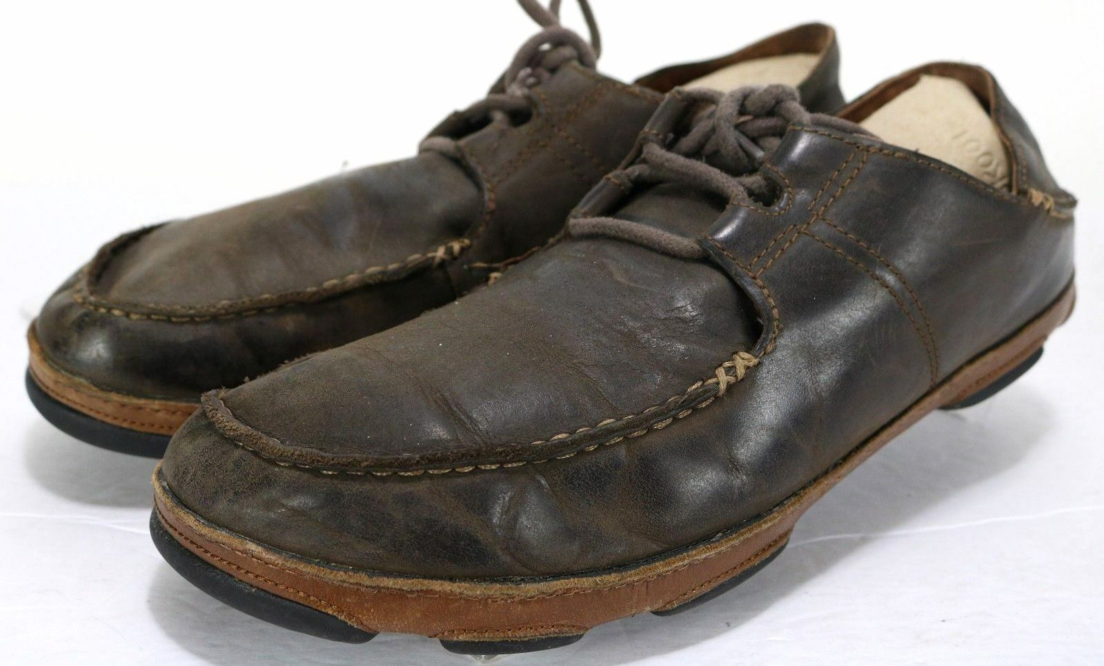 Olukai Ohana  110 Men's Casual shoes Size 10 Leather Brown
