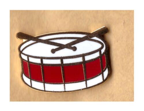 side drum lapel badge