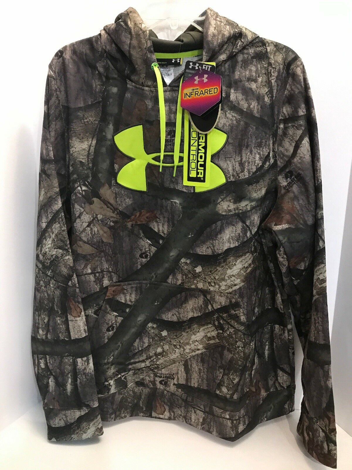 Under Armour Men's Camo Scent Control ColdGear Hoodie Mossy Mossy Hoodie Oak Treestand SZ L afe3f4
