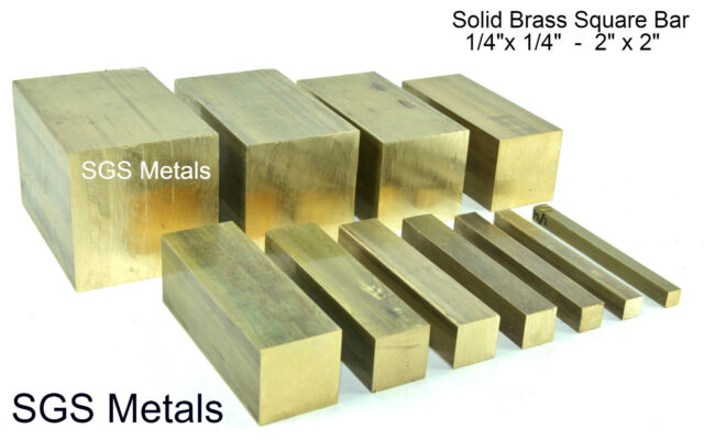 Solid Brass Square Bar 150mm Lengths Lathe Milling Machine Boxford Myford Lathe