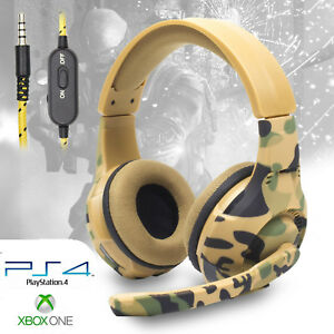 Pro-Gamer-PS4-Headset-for-PlayStation-4-Xbox-One-amp-PC-Computer-Camo-Headphones