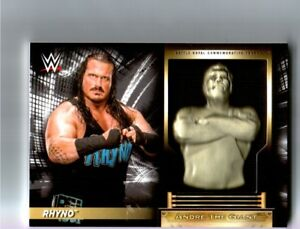 WWE-Rhyno-2018-Topps-RTWM-Andre-The-Giant-Battle-Royal-Relic-Card-67-199