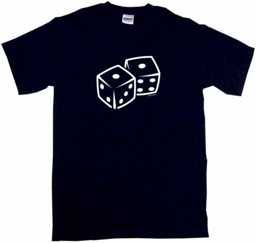 Dice Logo Men/'s tee Shirt Pick Size SM 6XL Color Short /& Long Sleeve Sleeveless