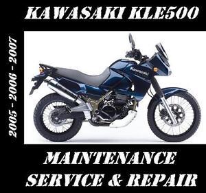 Kawasaki-KLE500-Service-Repair-Rebuild-Maintenance-Manual-KLE-500-FAST-SHIPPING