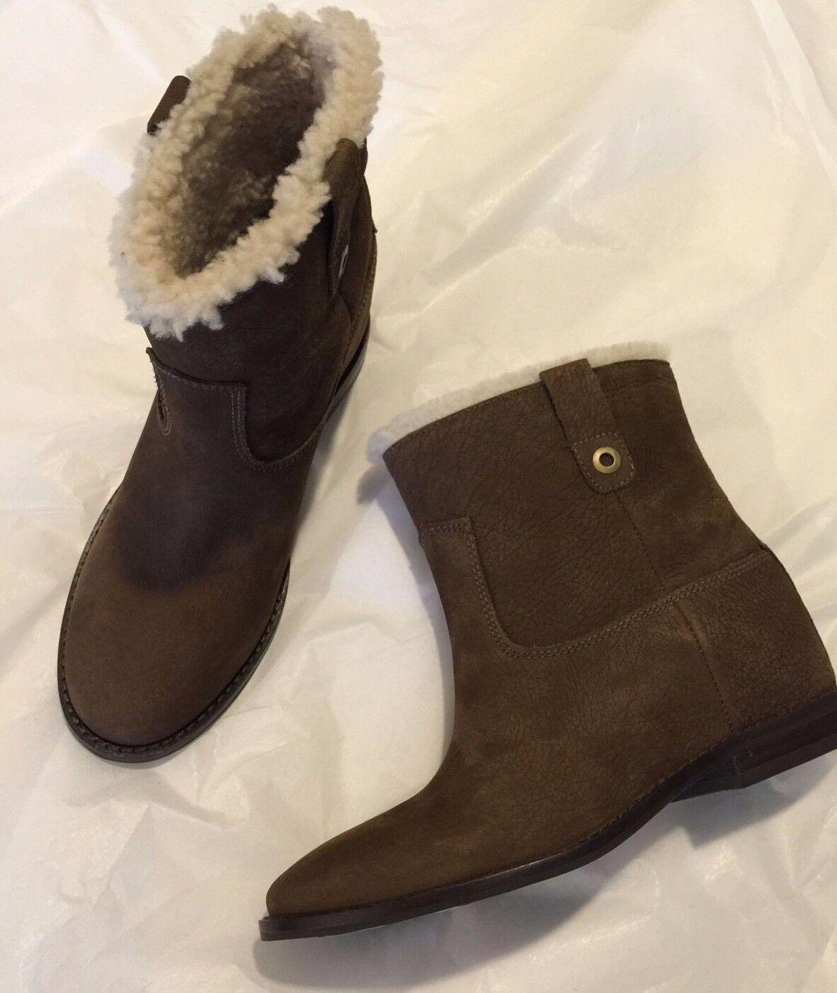 Cole Haan Zillie Genuine Shearling Hidden Wedge Stiefel - Damens Damens - Größe 6 41d875